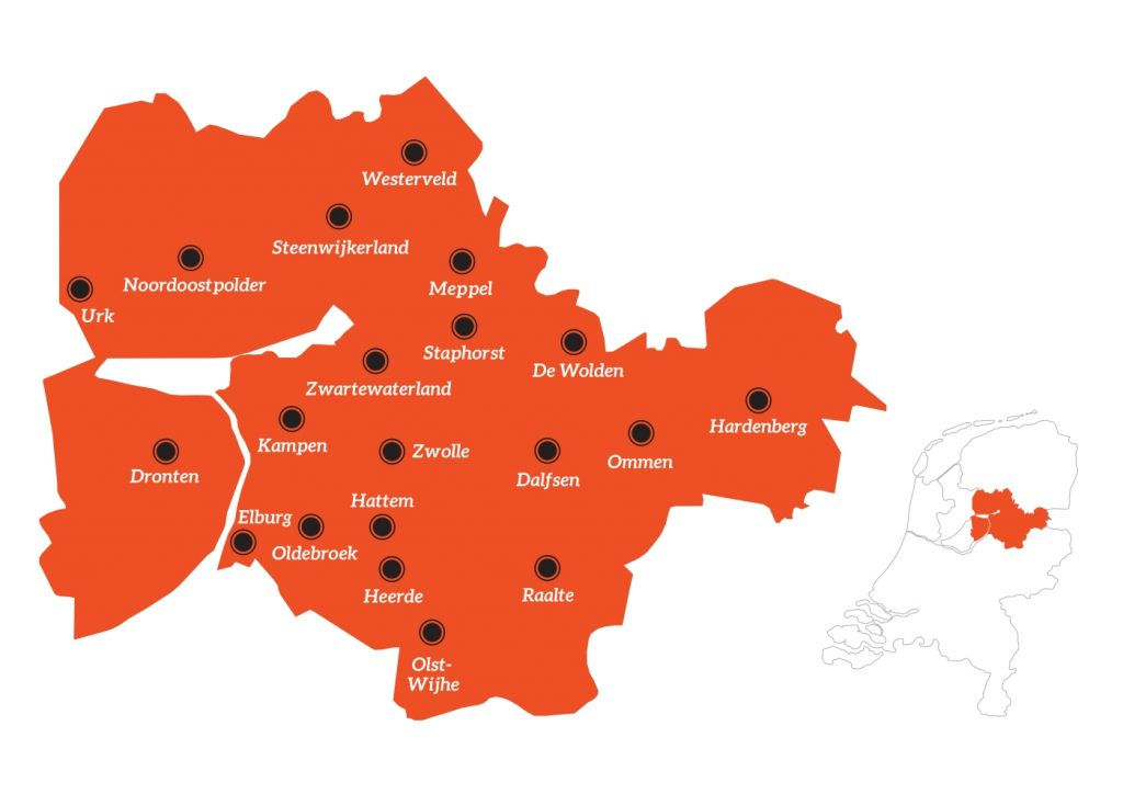 Kaart Regio Zwolle
