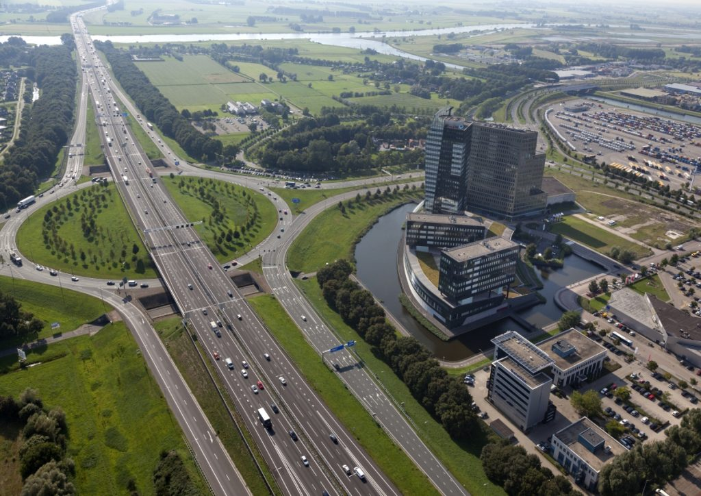 Verkeersplein ABN AMRO Toren Regio Zwolle